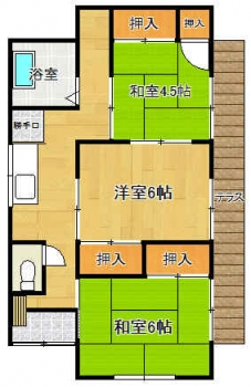 『岡野住宅2号棟間取り』の画像