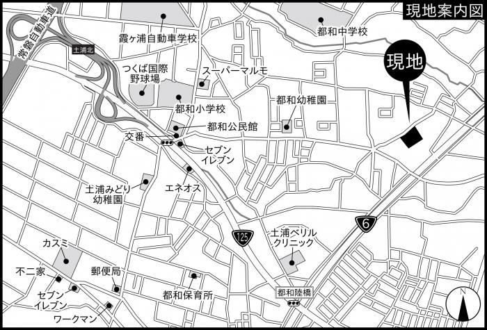 『土浦市板谷地図』の画像