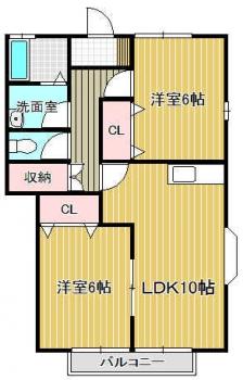 『1番館 1階間取り』の画像